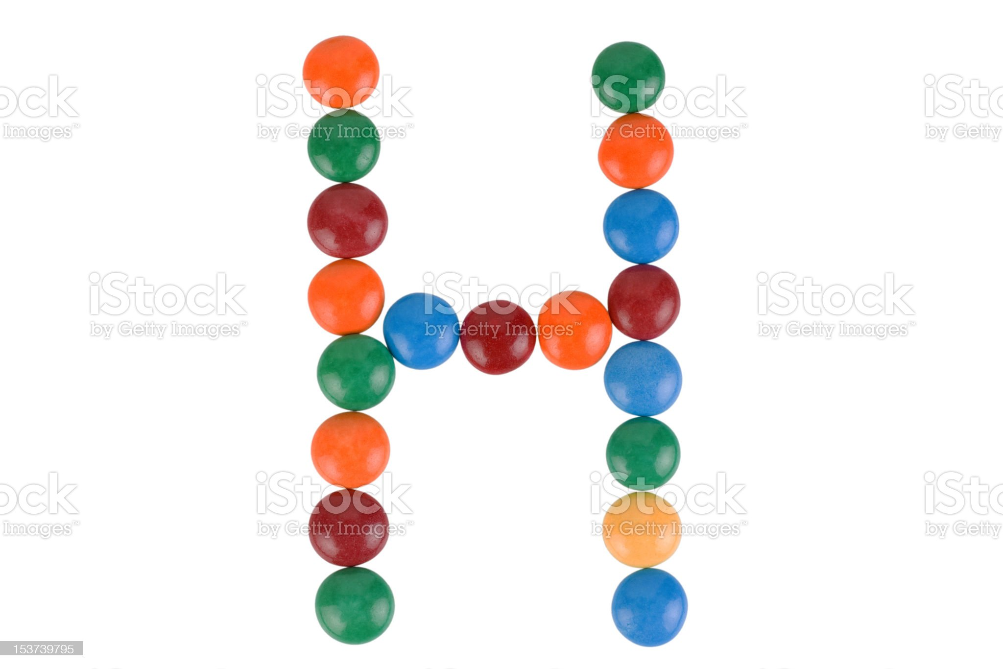 Colorful Candy Letter H royalty-free stock photo