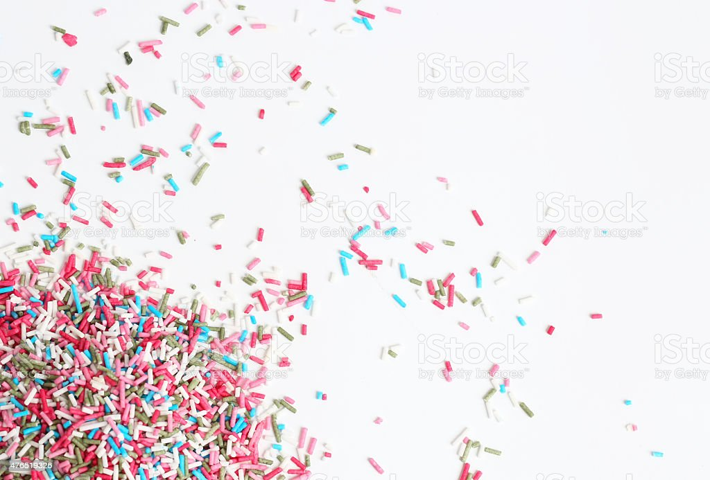 Colorful candy sprinkles stock photo