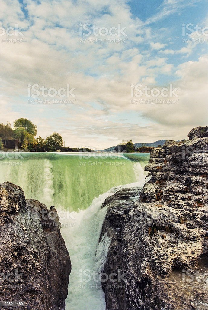 Colorful Canyon of Cijevna River stock photo