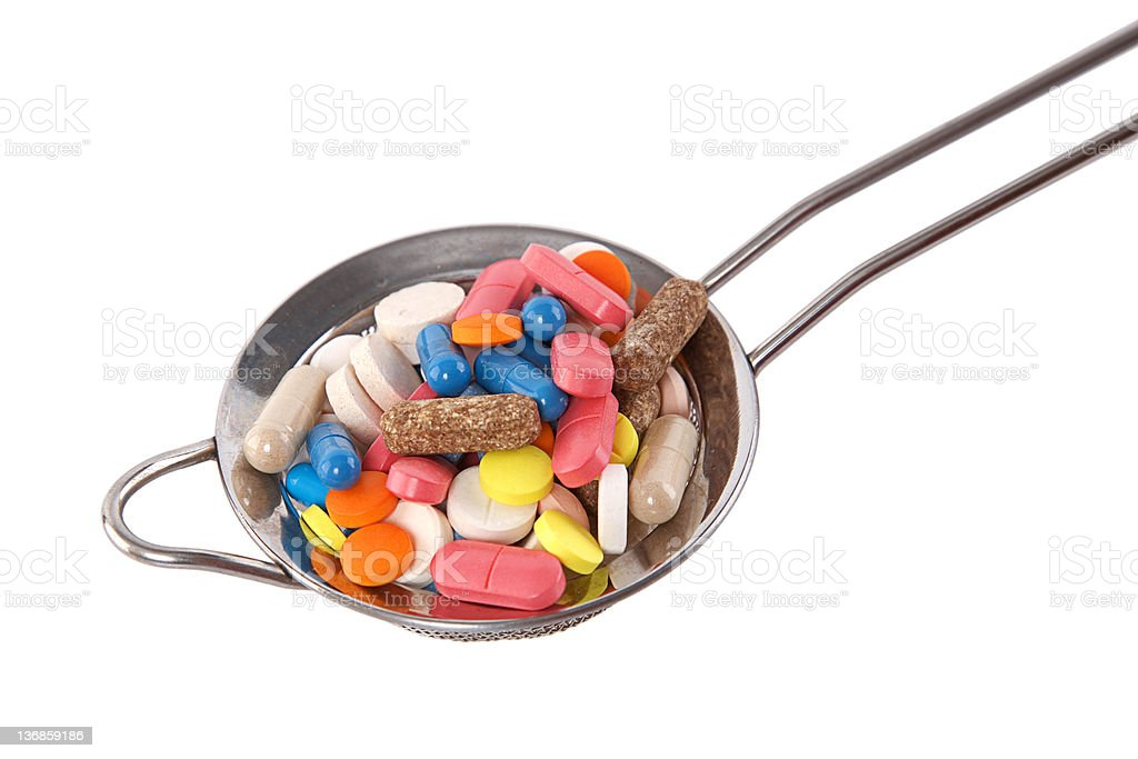 colorful capsule, pill and tablet royalty-free stock photo
