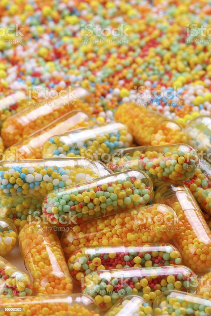colorful capsules background stock photo
