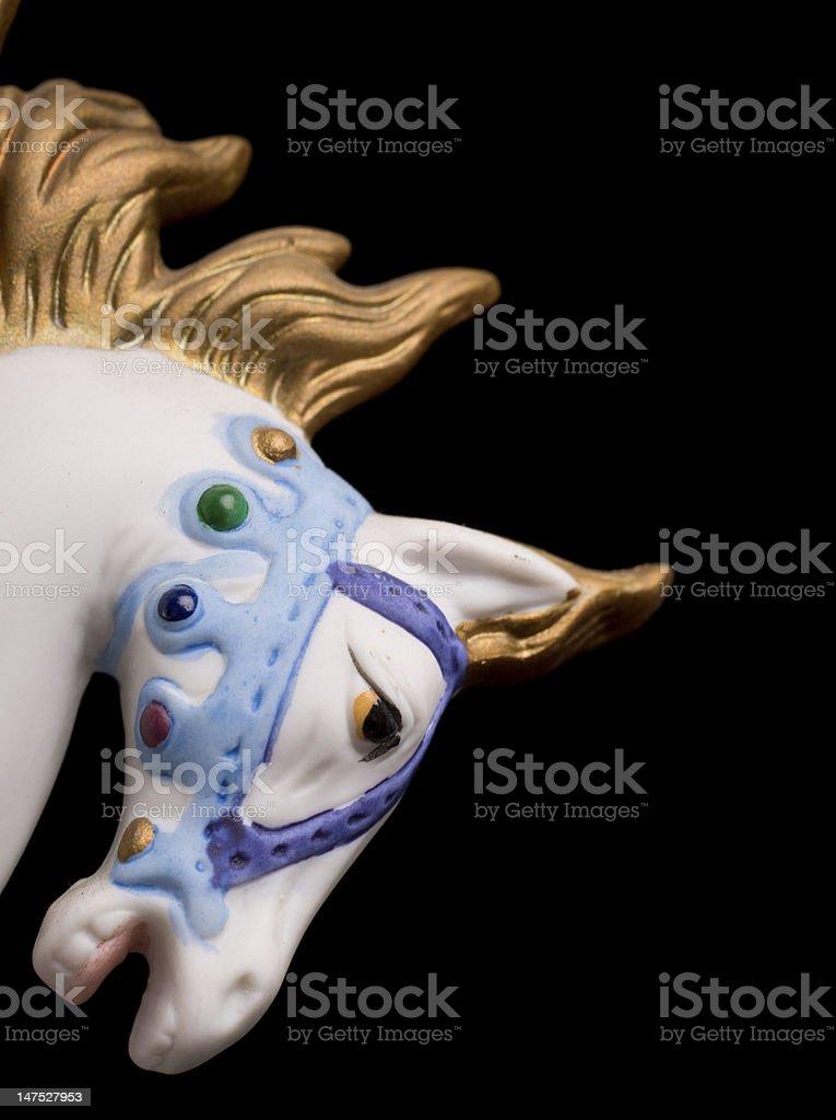 Colorful Carousel Horse stock photo