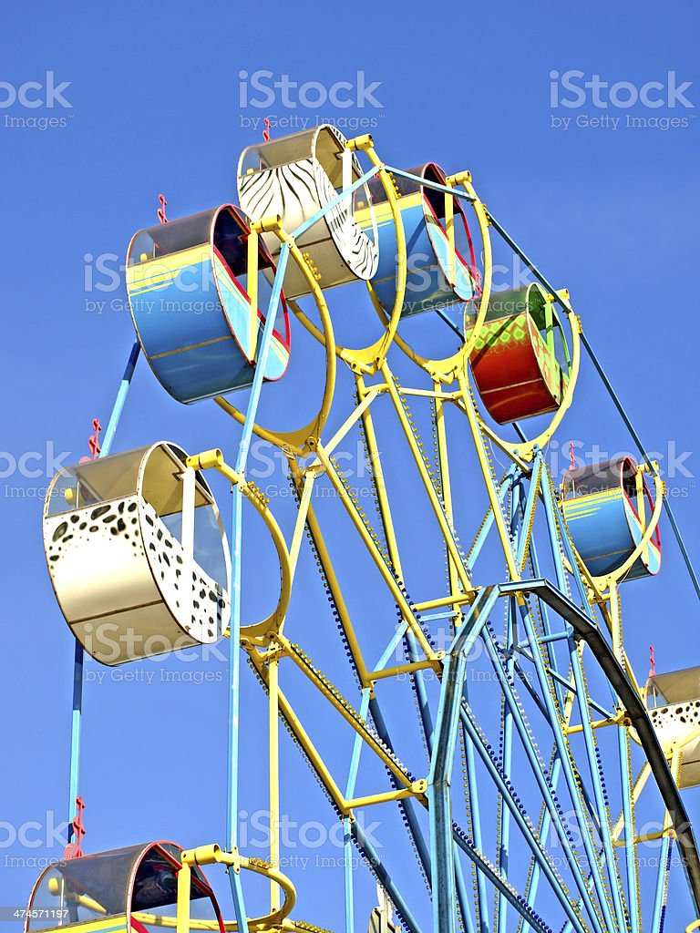 Colorful carousel. stock photo