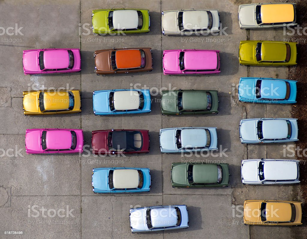 Colorful Cars stock photo