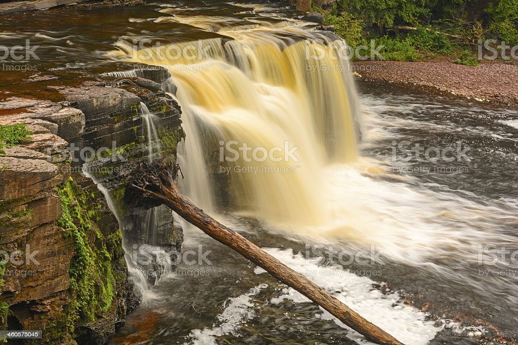 Colorful Cascade in the Wilds stock photo