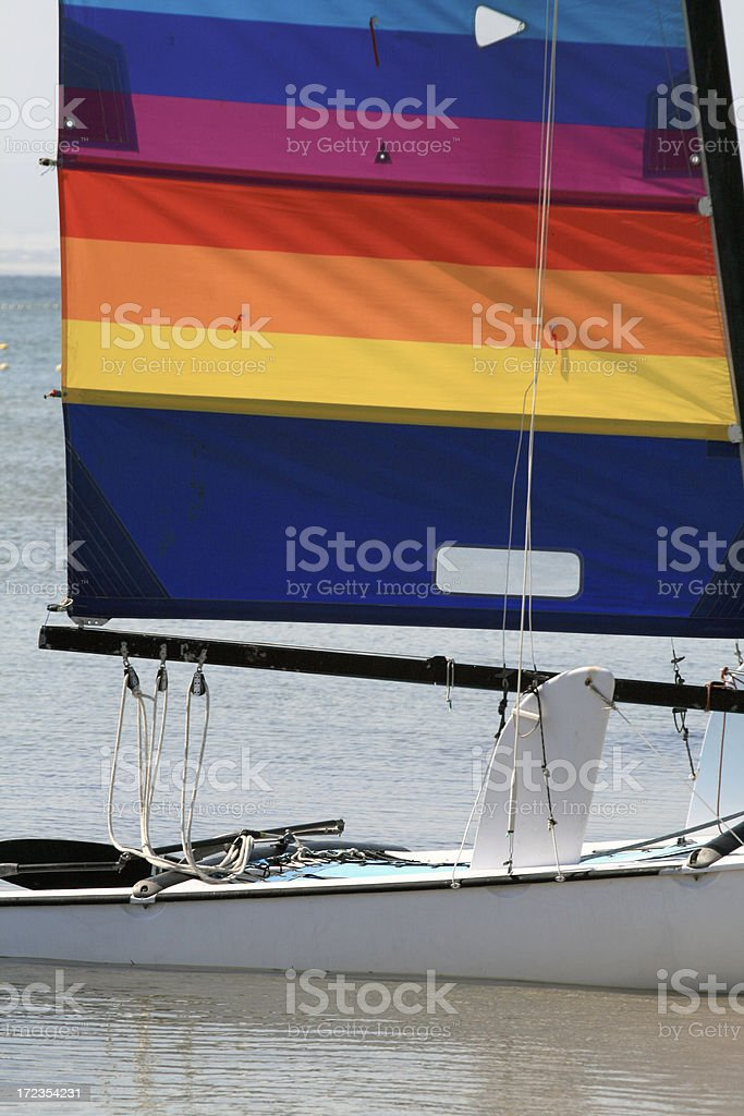 Colorful Catamaran stock photo