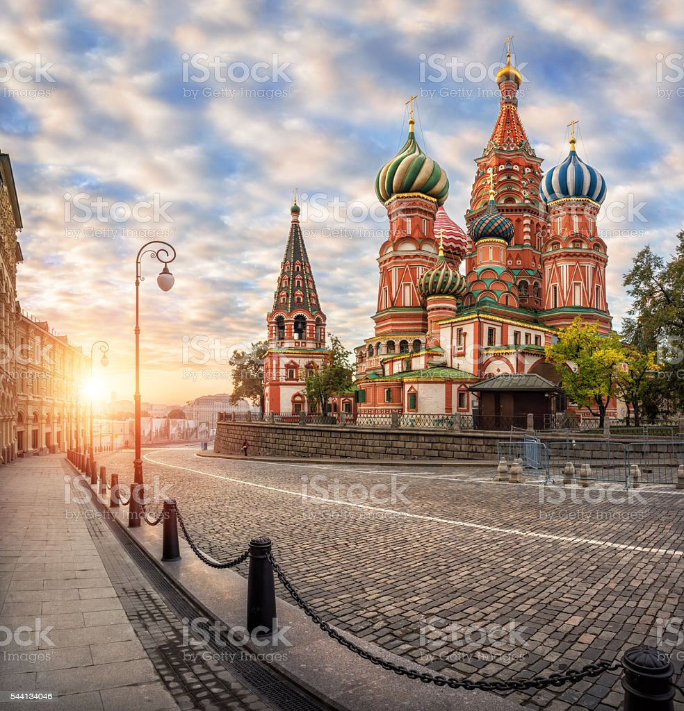 Colorful Cathedral on the Red Square stock photo