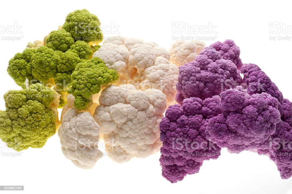 Colorful cauliflower stock photo