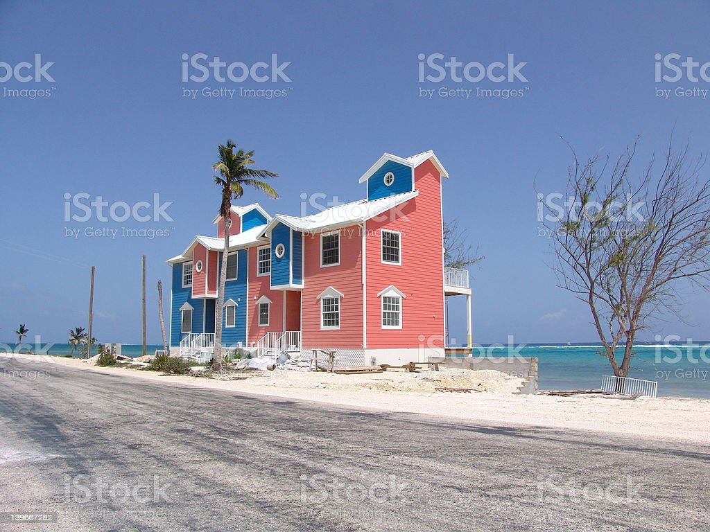 Colorful Cayman Condos stock photo