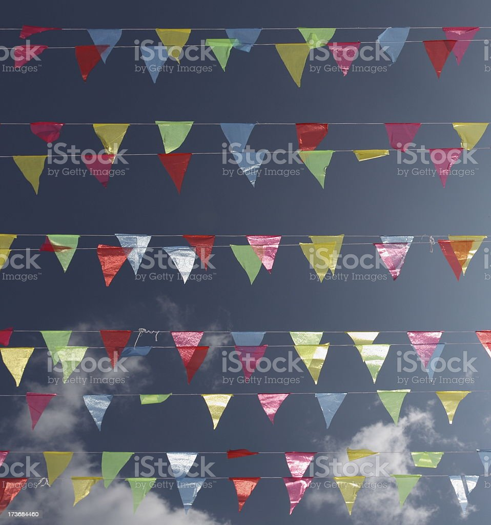 Colorful Celebration Flags royalty-free stock photo
