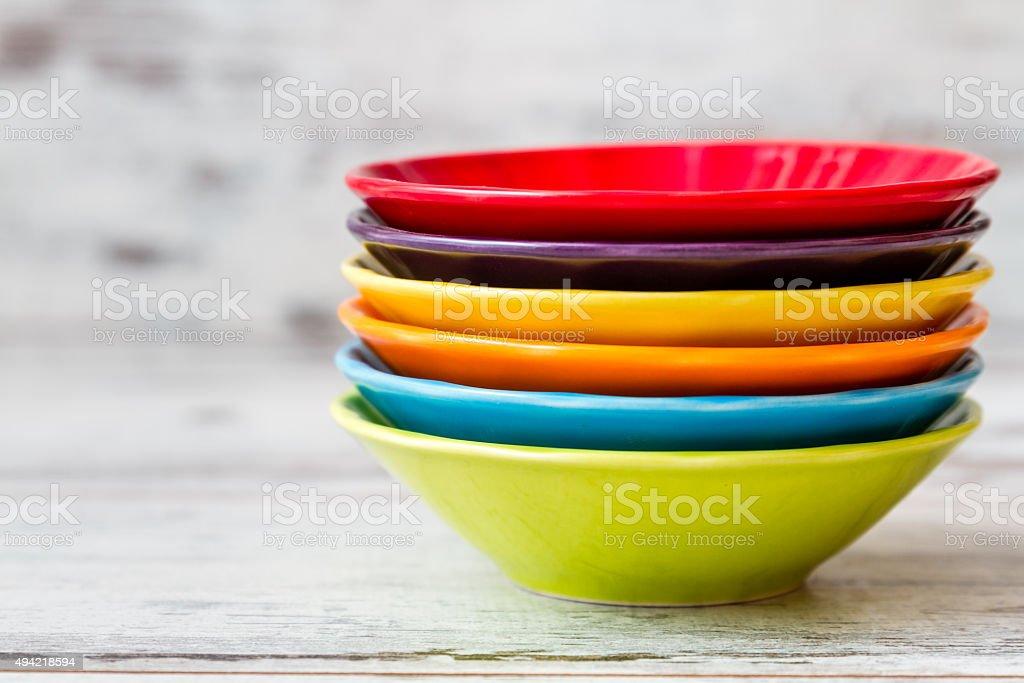 Colorful Ceramic Bowls stock photo