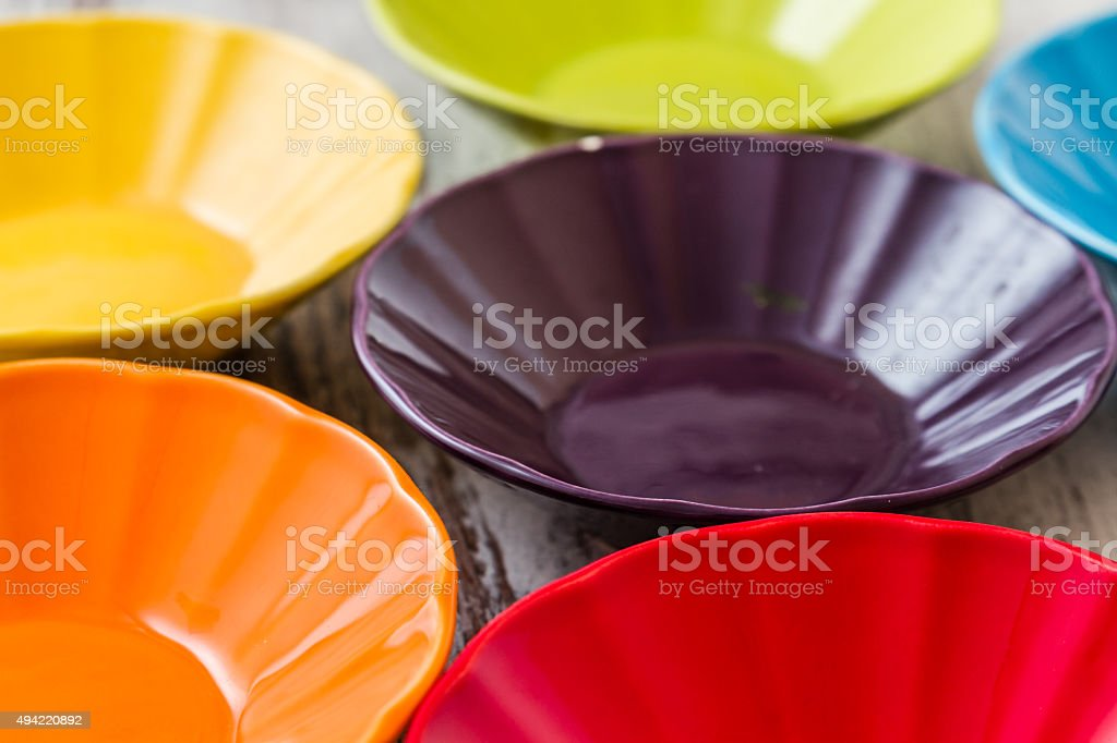 Colorful Ceramic Bowls stock photo