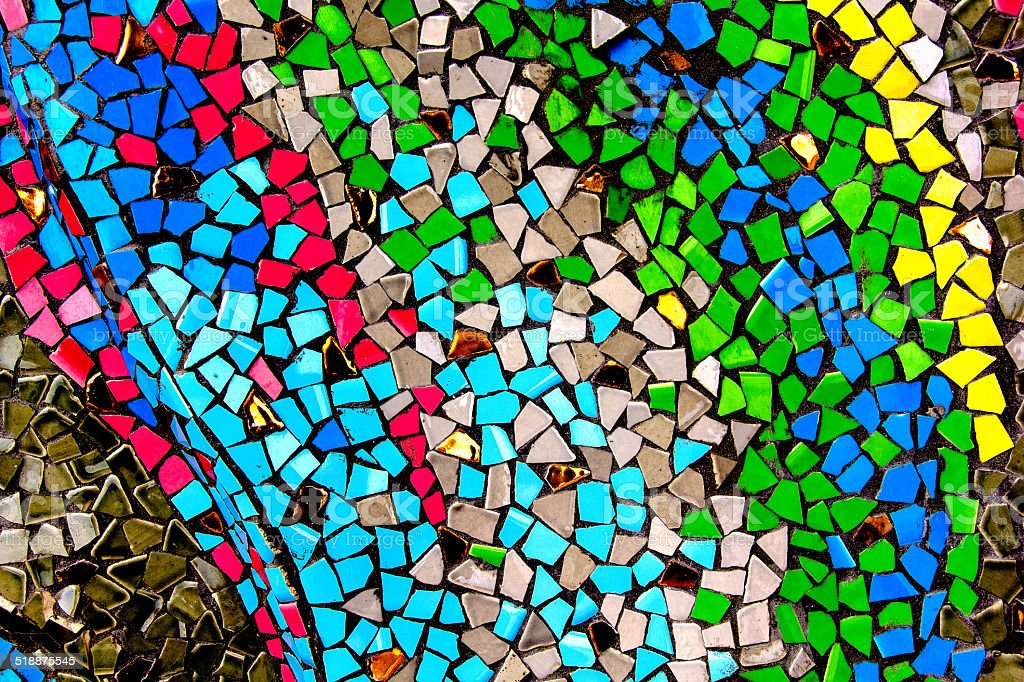 Colorful ceramic tile patterns stock photo