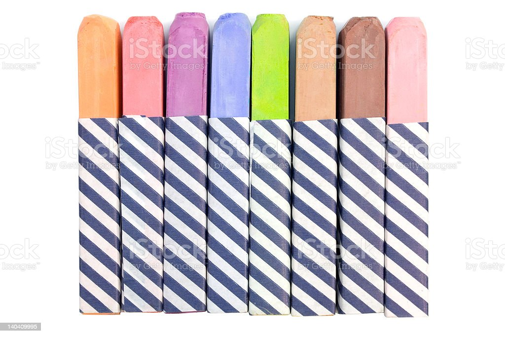 Colorful Chalk royalty-free stock photo