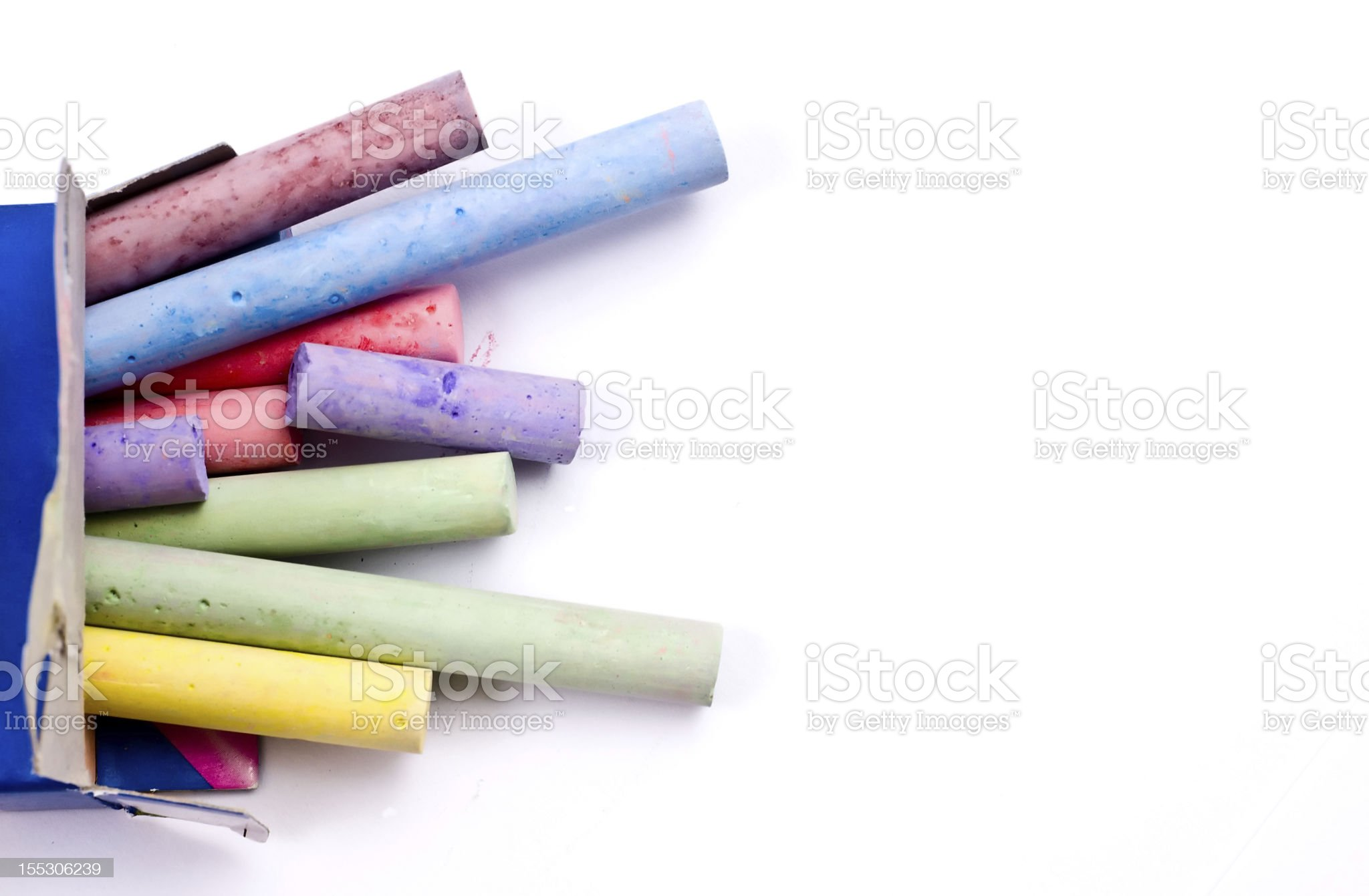 Colorful chalks royalty-free stock photo