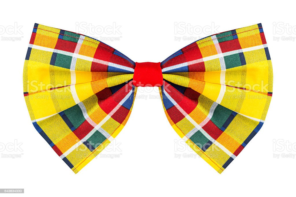 colorful checkered bow tie stock photo