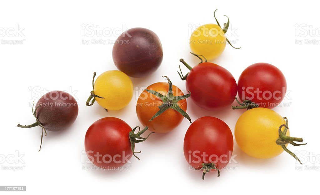 Colorful cherry tomatoe royalty-free stock photo