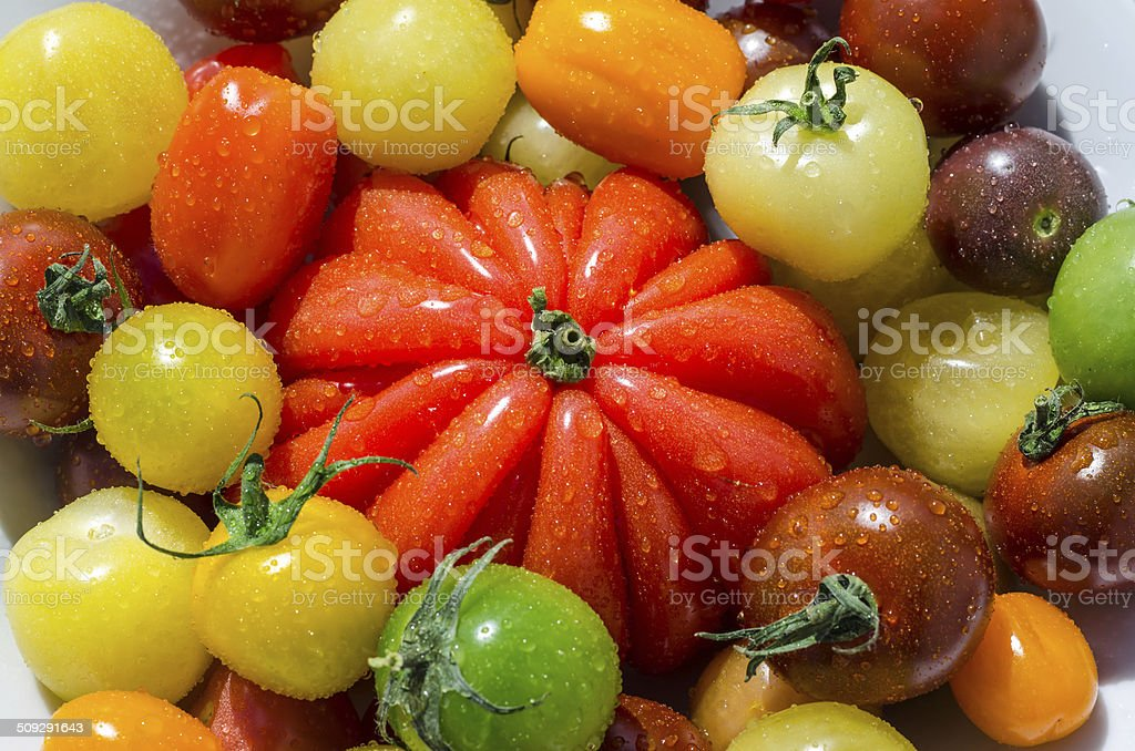 Colorful cherry tomatoes royalty-free stock photo