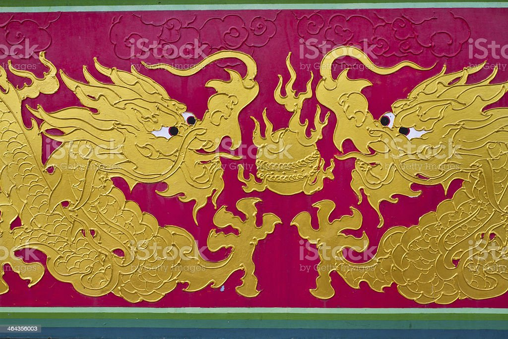 colorful chinese dragon royalty-free stock photo
