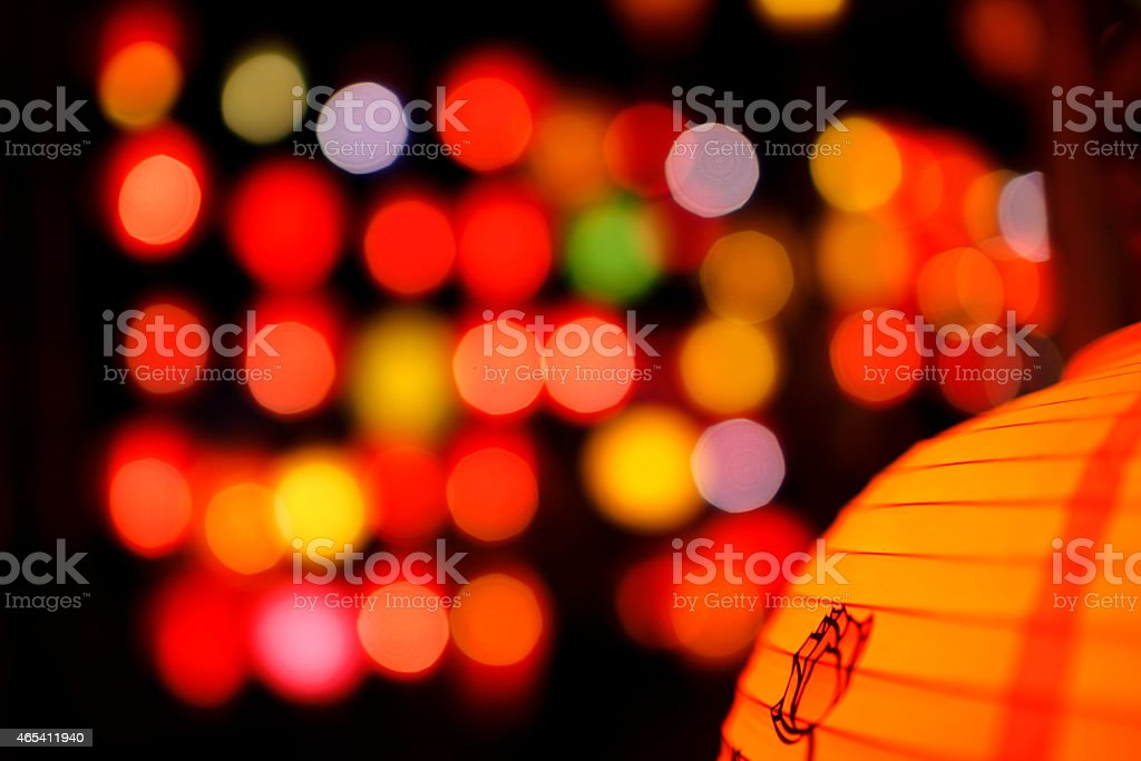 Colorful Chinese lantern royalty-free stock photo