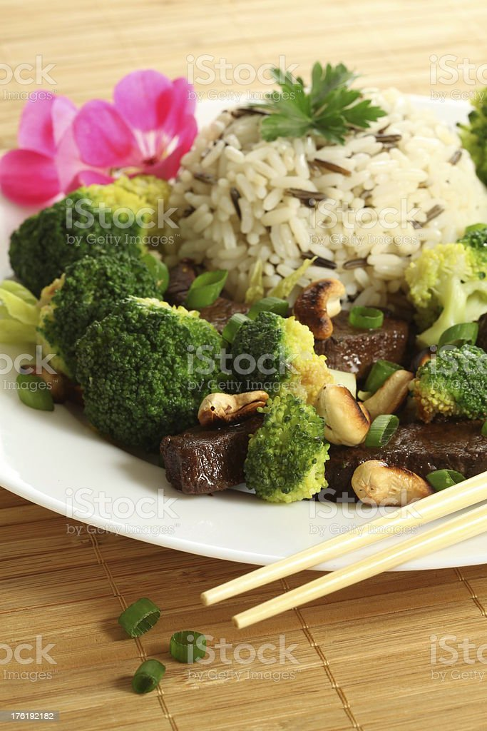 Colorful chinese meal royalty-free stock photo