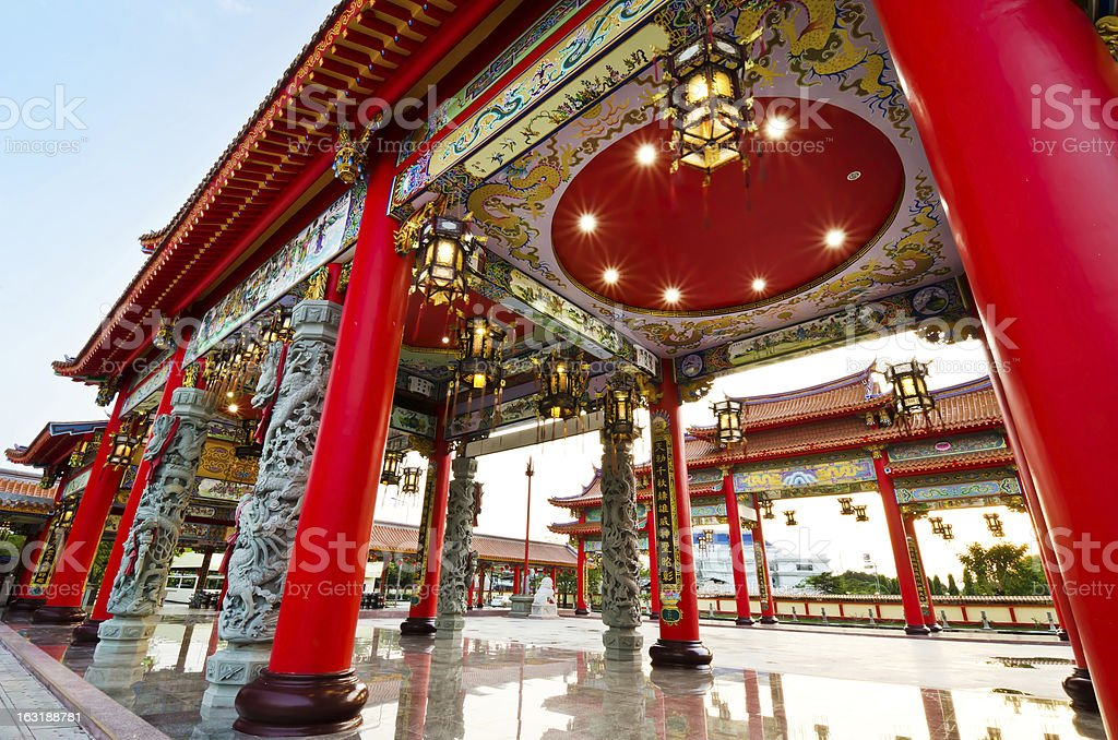 colorful chinese temple royalty-free stock photo