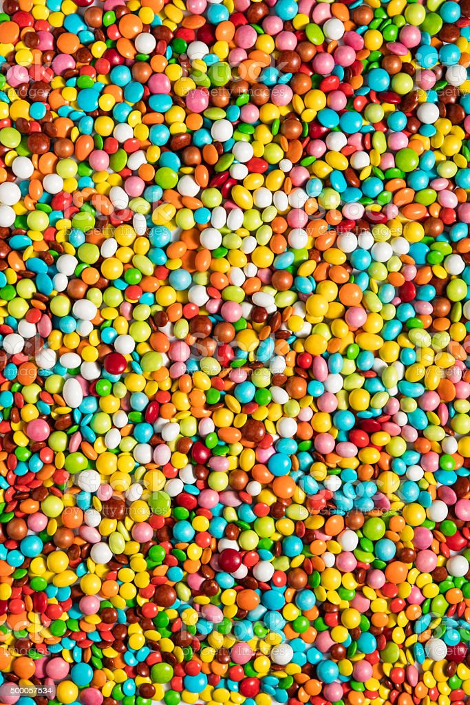 colorful chocolate candies stock photo