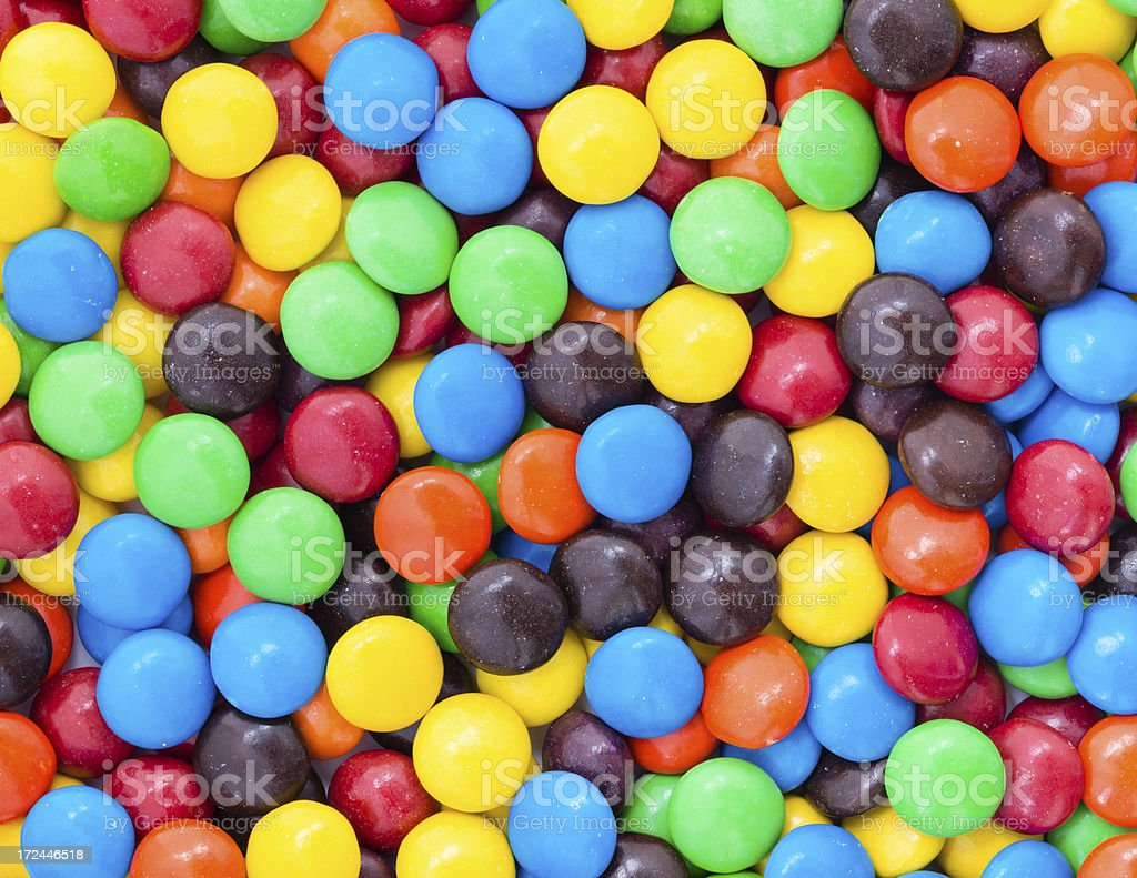 Colorful Chocolate candy beans backgrounds royalty-free stock photo