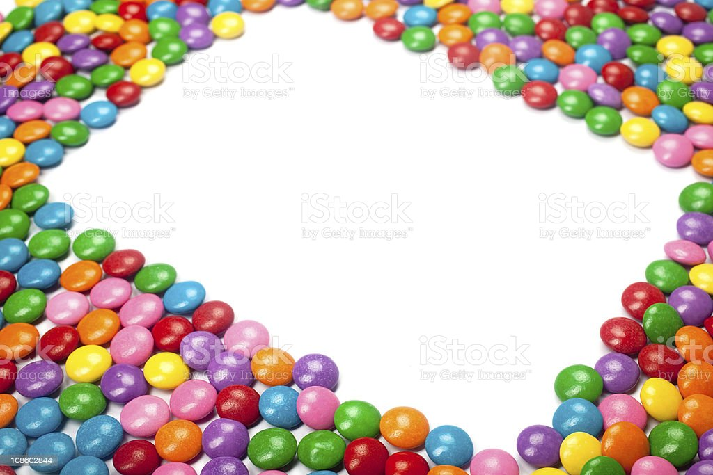 Colorful Chocolate Candy Frame royalty-free stock photo