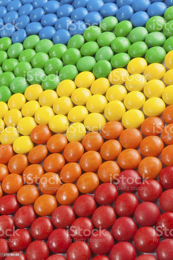Colorful Chocolate Candy royalty-free stock photo