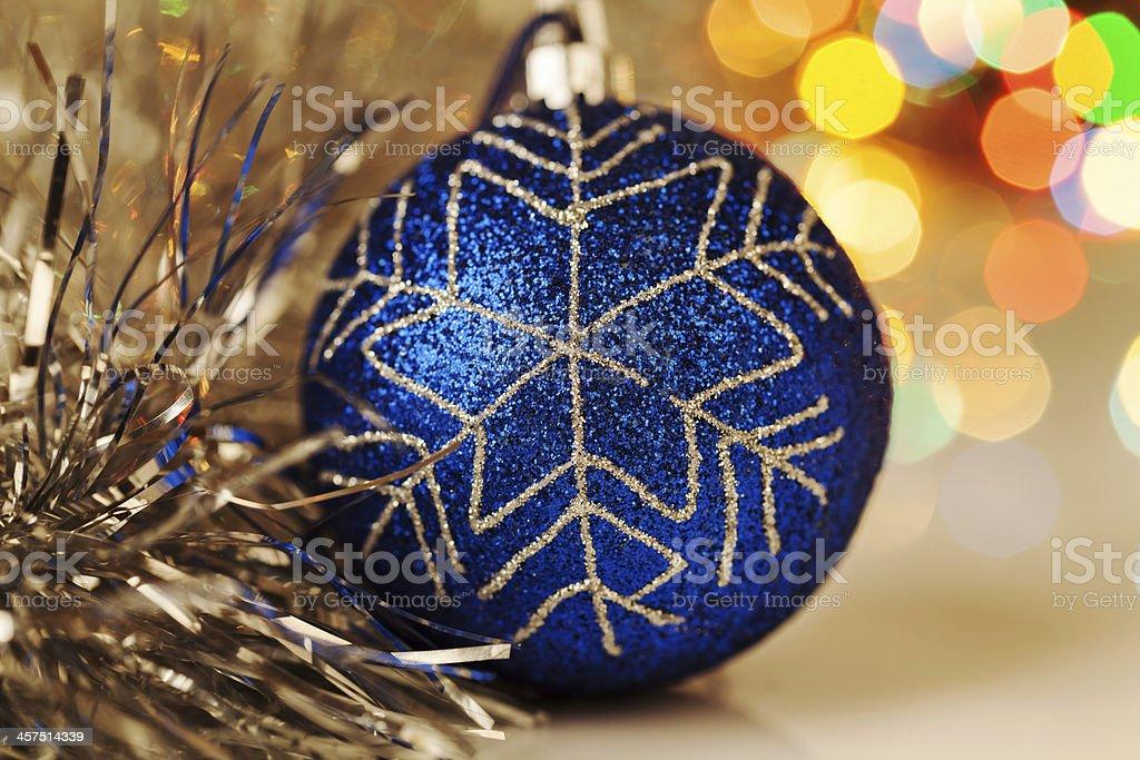 Colorful christmas ball on bokeh background royalty-free stock photo