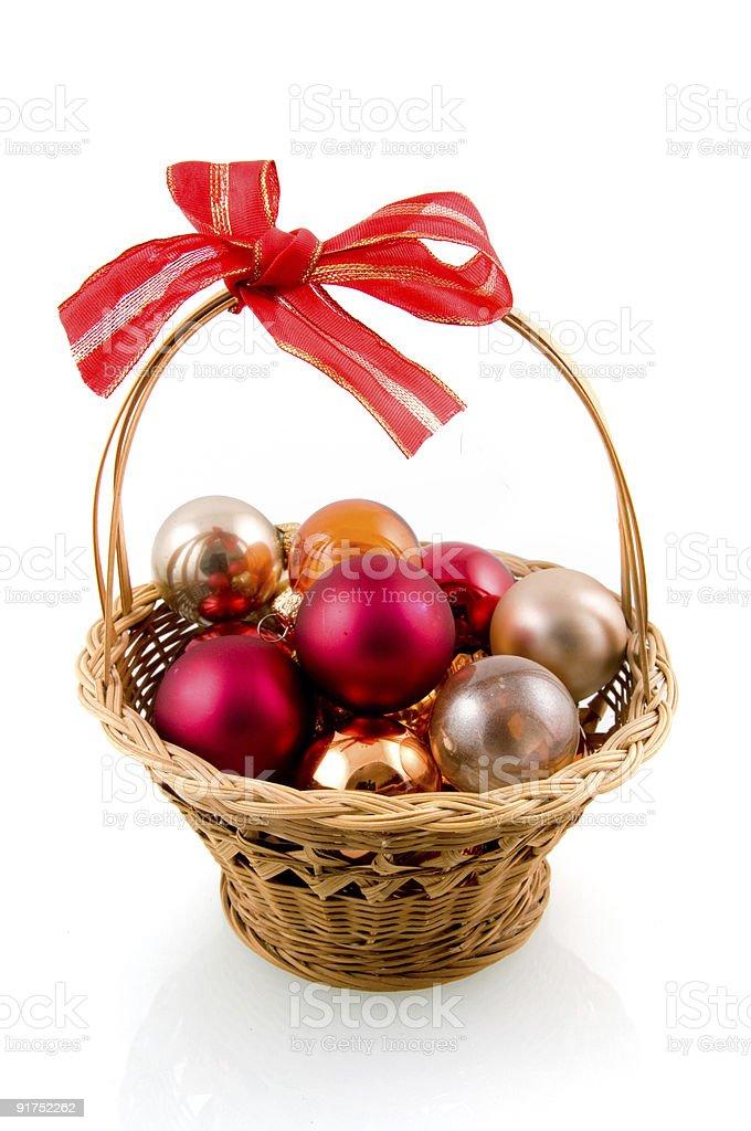 Boules colorées de Noël photo libre de droits