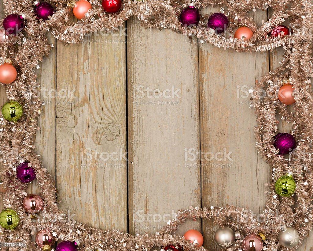 colorful christmas frame stock photo