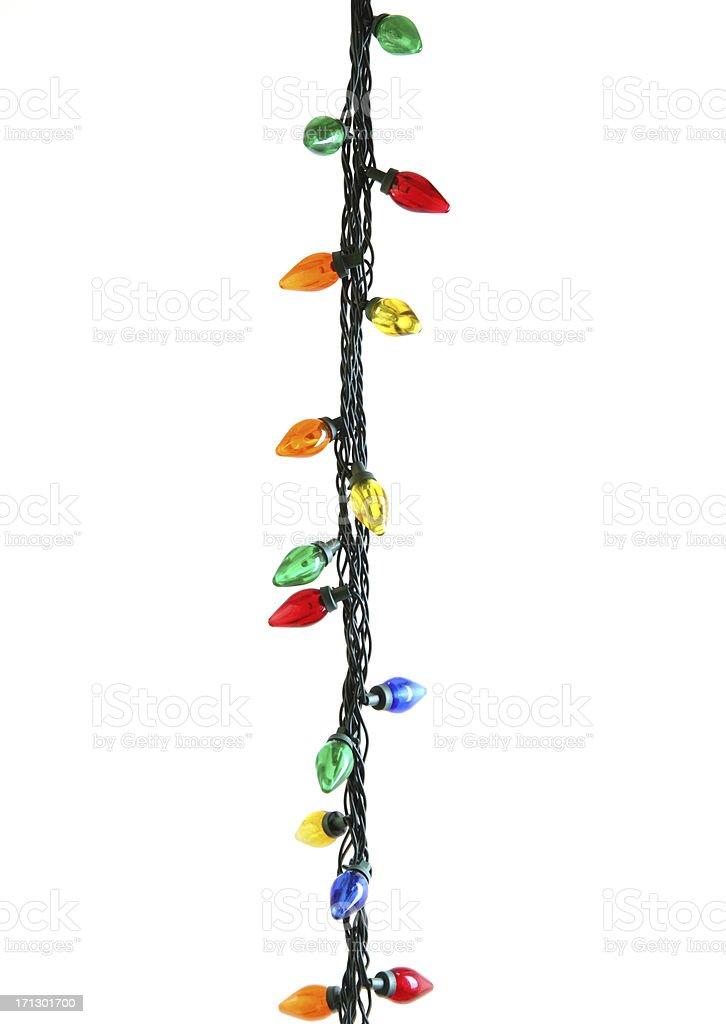 Colorful Christmas Lights stock photo