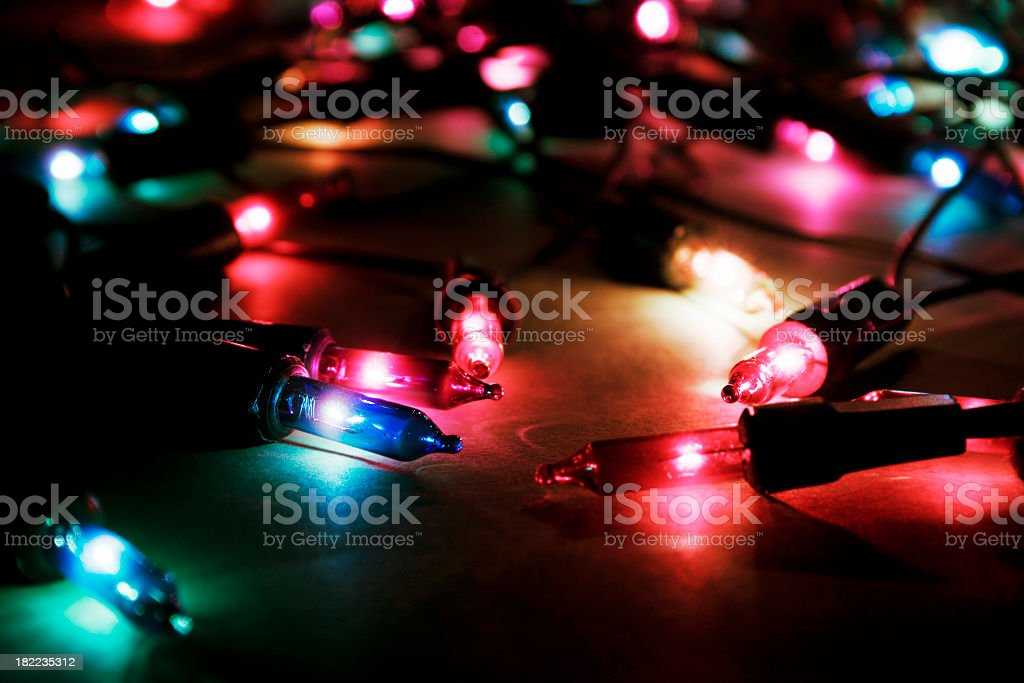colorful christmas lights royalty-free stock photo