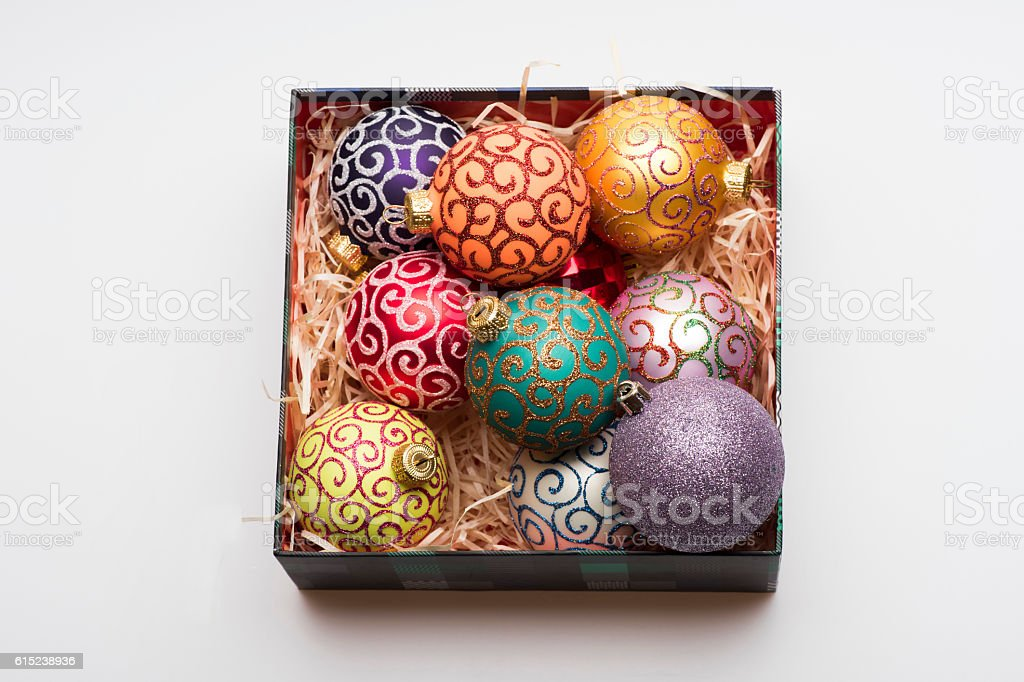 Colorful Christmas or New Year decoration stock photo