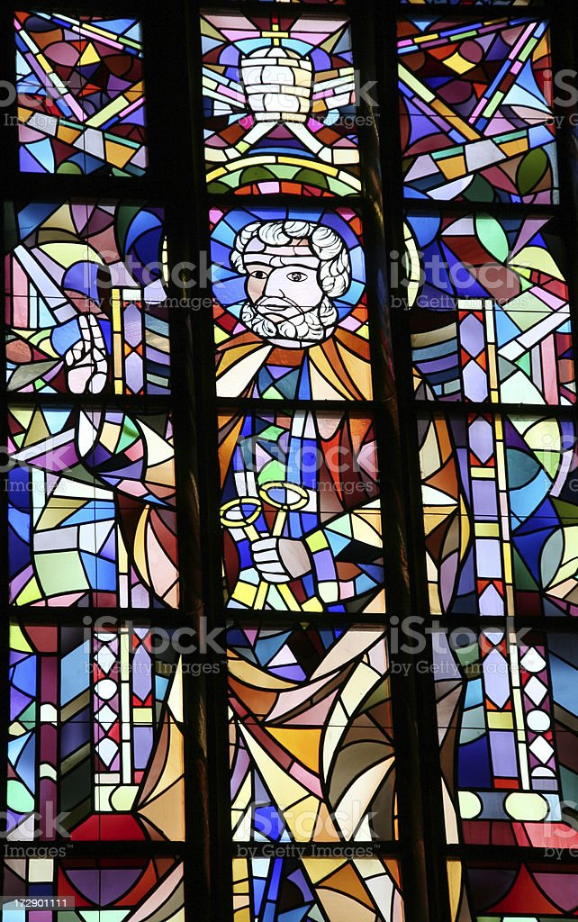 colorful church window royalty-free stock photo