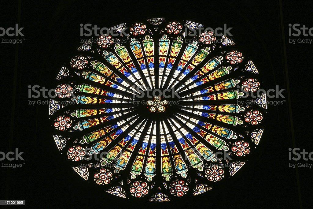 Colorful church window royalty-free stock photo