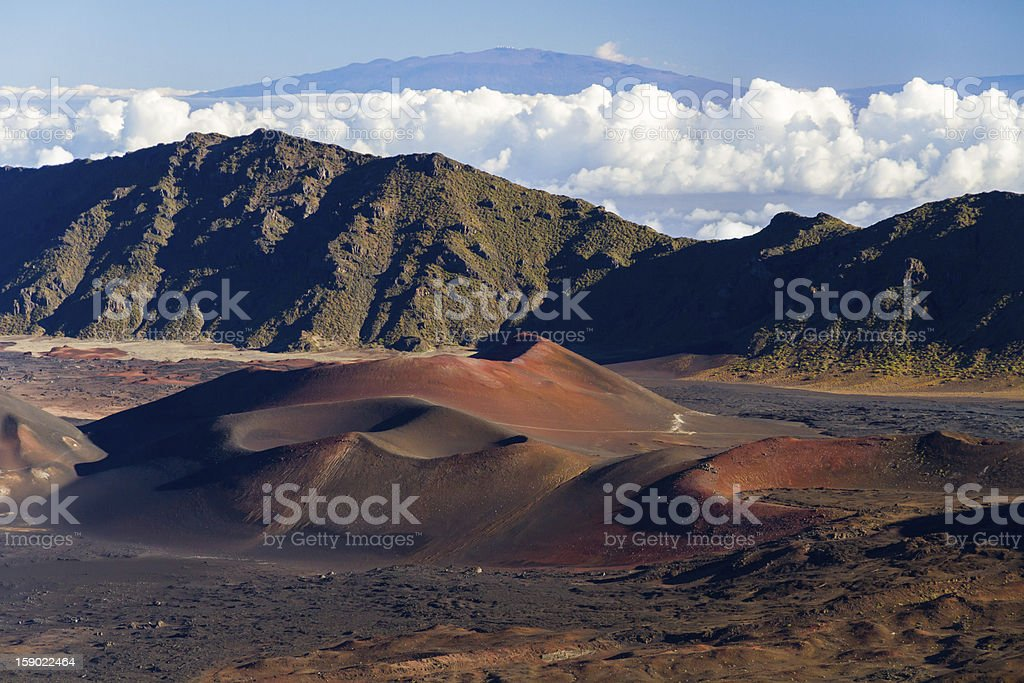 Colorful Cinder Cones Inside Haleakala Crater royalty-free stock photo