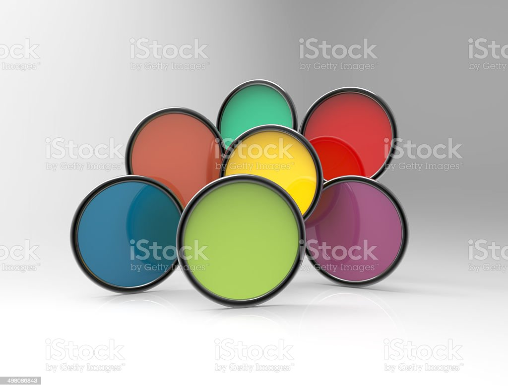 Colorful circle banner royalty-free stock photo