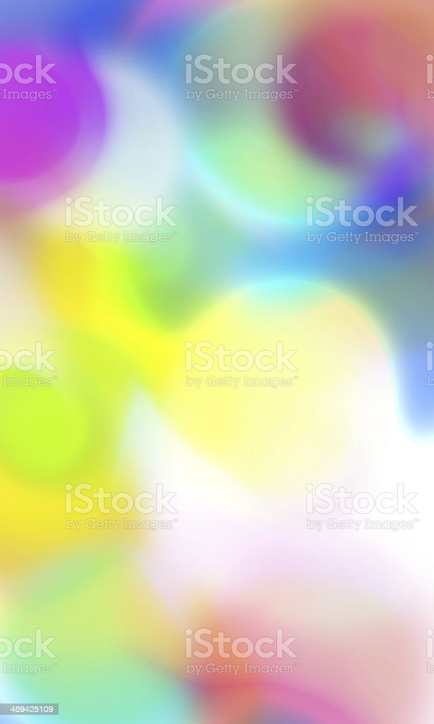 Colorful circles blending together royalty-free stock photo