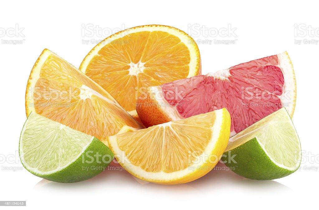 colorful citrus slices stock photo