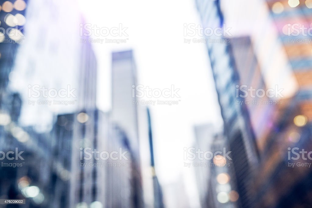 Colorful City Buildings Soft Focused stock photo