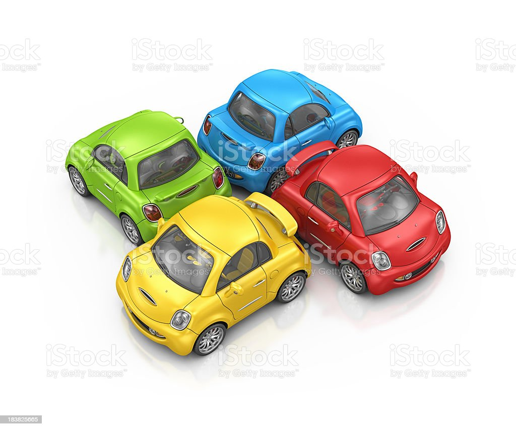 colorful city cars royalty-free stock photo