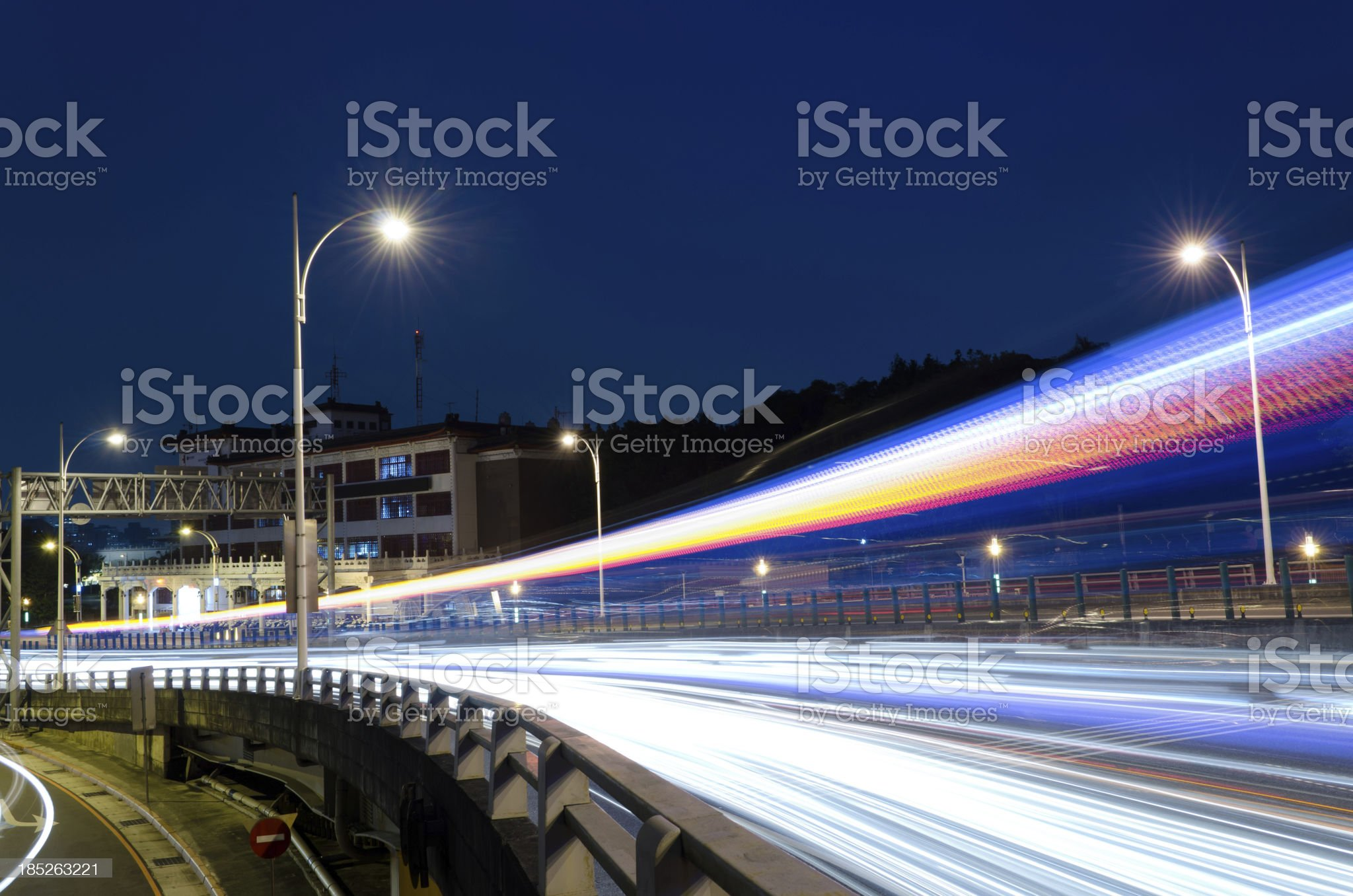 Colorful city night royalty-free stock photo