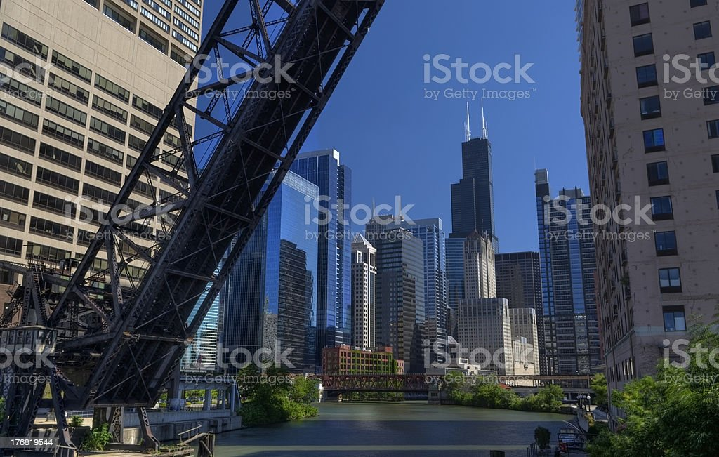 Colorful city of Chicago royalty-free stock photo