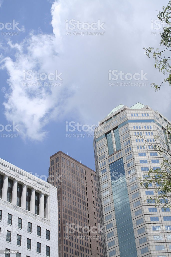Colorful cityscape in Columbus, Ohio stock photo
