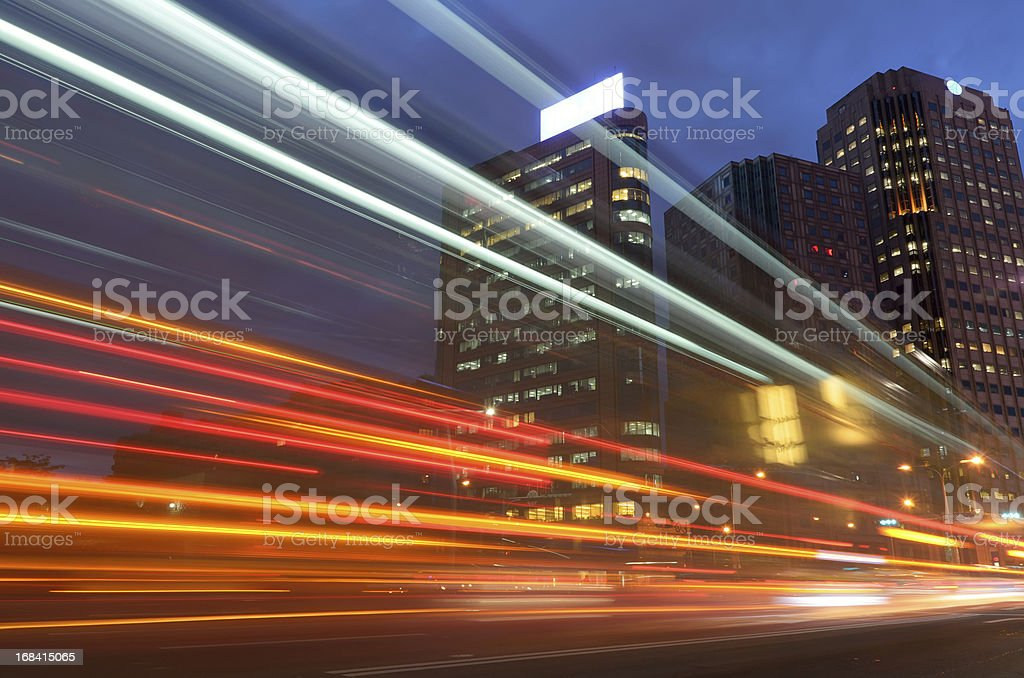 Colorful cityscape royalty-free stock photo