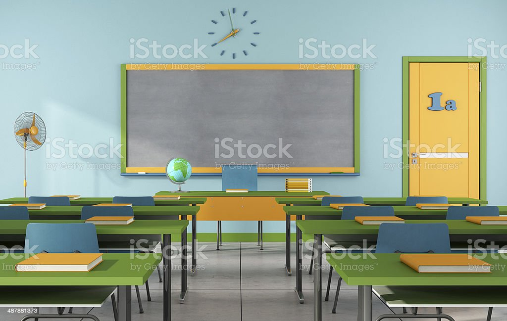 Colorful classroom stock photo