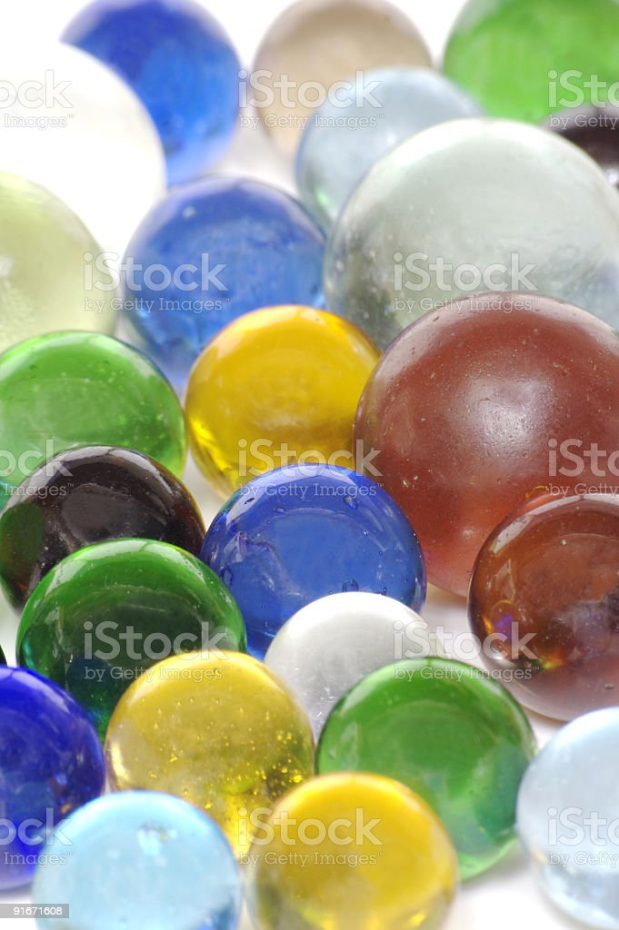 Colorful Clear Glass Marbles stock photo